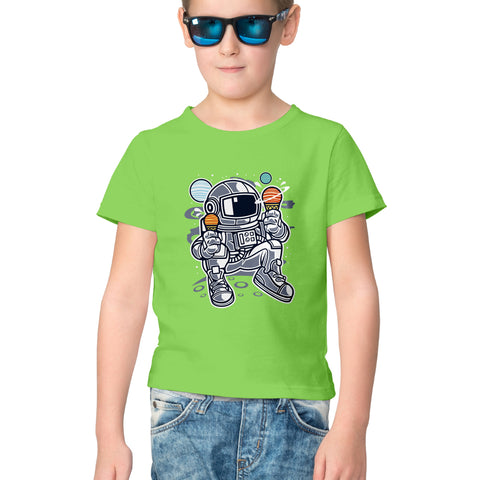 Astronaut Icecream Half Sleeve Tee for Kids