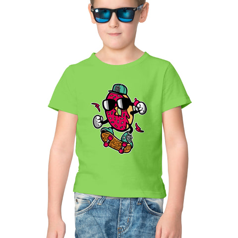 Donut Scooter Half Sleeve Tee for Kids