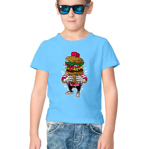 Burger Love Half Sleeve Tee for Kids