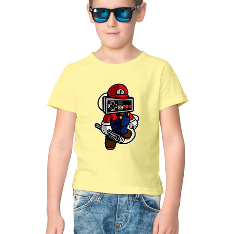 Hello Mario Half Sleeve Tee for Kids