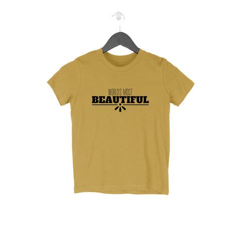 World's Most Beautiful Half Sleeve Tee for Kids
