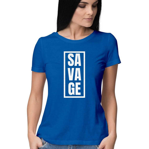 Savage Women's Half Sleeve Tee