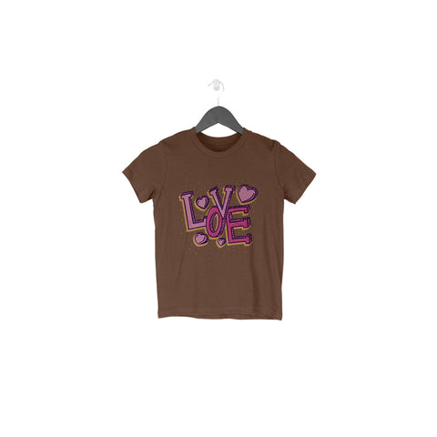 Love Typography Half Sleeve Tee for Toddlers