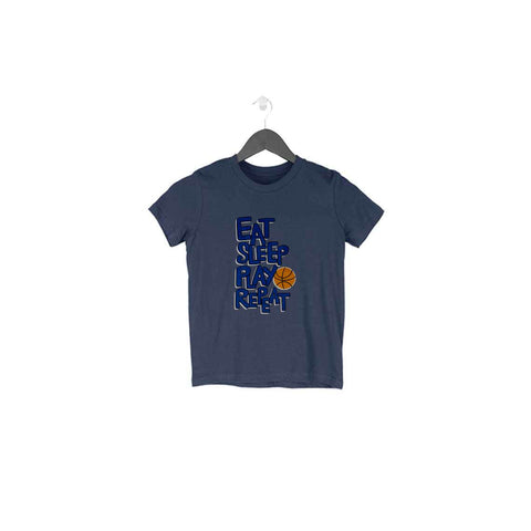 Eat Sleep Play Repeat Half Sleeve Tee for Toddlers