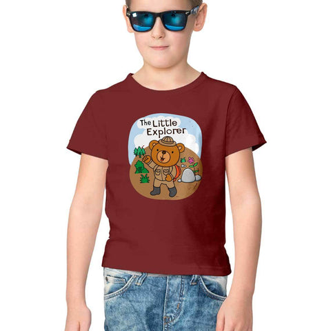 Little Explorer Half Sleeve Tee for Kids
