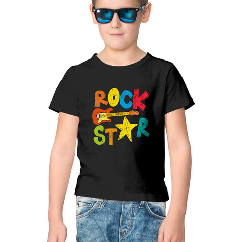 Rockstar Half Sleeve Tee for Kids