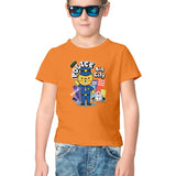 Cute Police Half Sleeve Tee for Kids