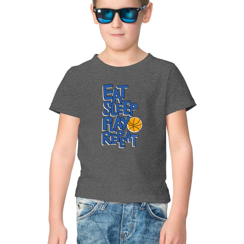 Eat Sleep Play Repeat Half Sleeve Tee for Kids