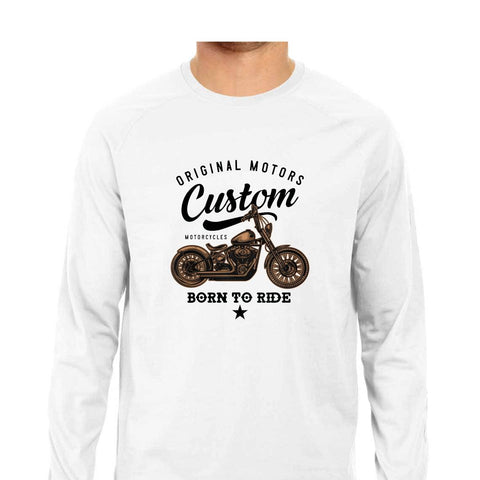Born to Ride Men's Full Sleeve Tee