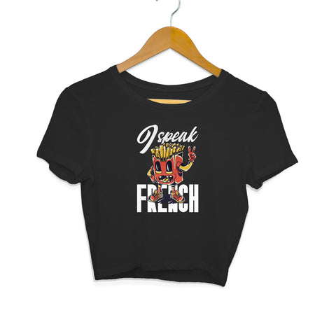 I Speak French Women's Crop Top