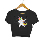 Unicorn Dab Women's Crop Top