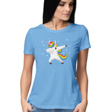Unicorn Dab Women's Half Sleeve Tee