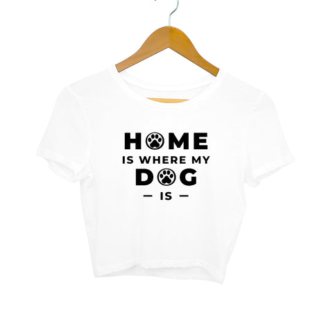 Dog Home Women's Crop Top