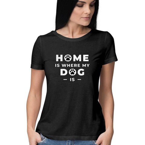 Dog Home Women's Half Sleeve Tee
