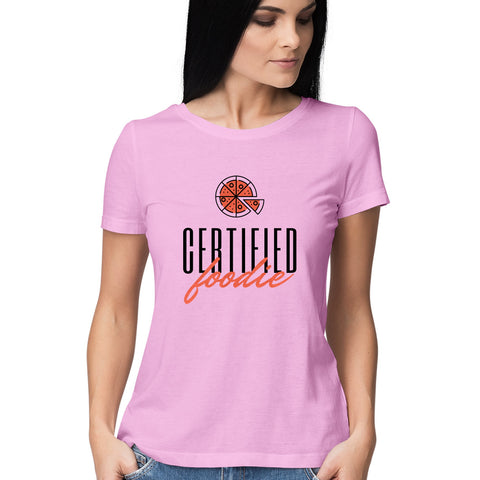 Certified Foodie Women's Half Sleeve Tee