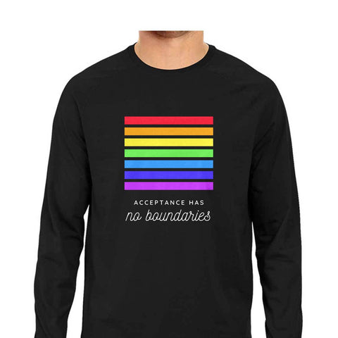 Pride Acceptance Men's Full Sleeve Tee