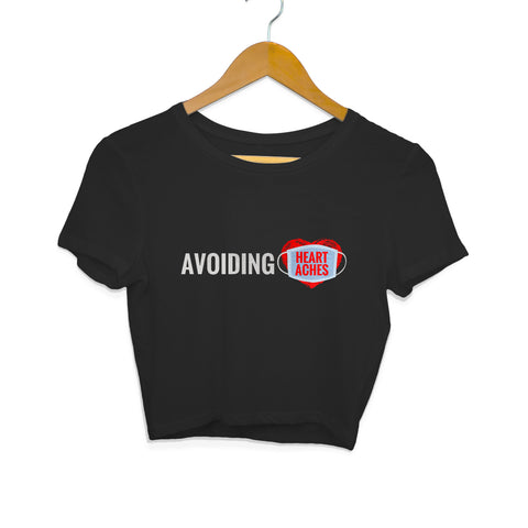 Avoiding Heartaches Women's Crop Top