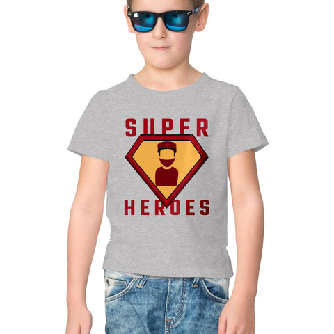 Superheroes Half Sleeve Tee for Kids