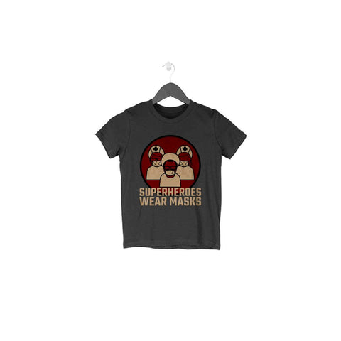 Superheroes Wear Masks Half Sleeve Tee for Toddlers