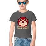 Superheroes Wear Masks Half Sleeve Tee for Kids