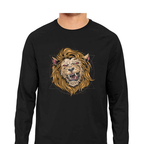 Lion Men's Full Sleeve Tee