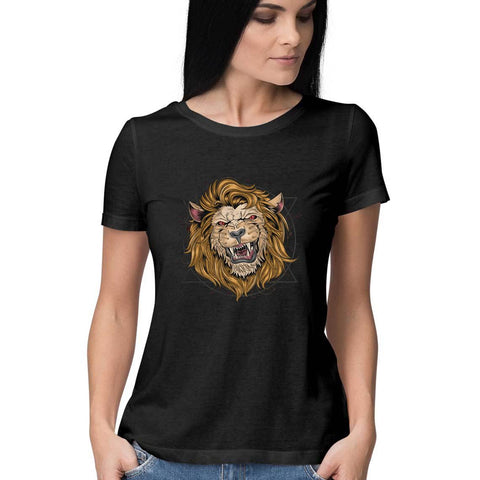 Lion Women's Half Sleeve Tee