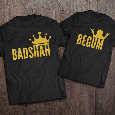 Badshah & Begum Couple Tees