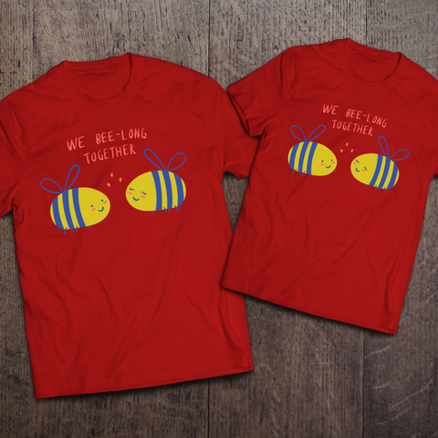 We Bee-long Together Couple Tees