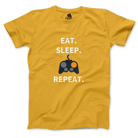 Eat Sleep Game Repeat Men's Half Sleeve Tee