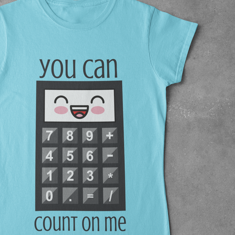 Count on Me Women's Half Sleeve Tee