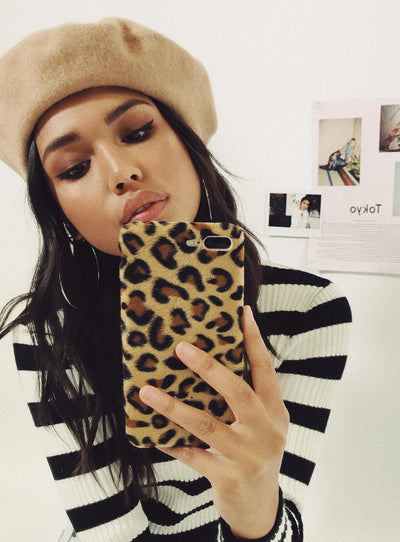 Plush Leopard Phone Case