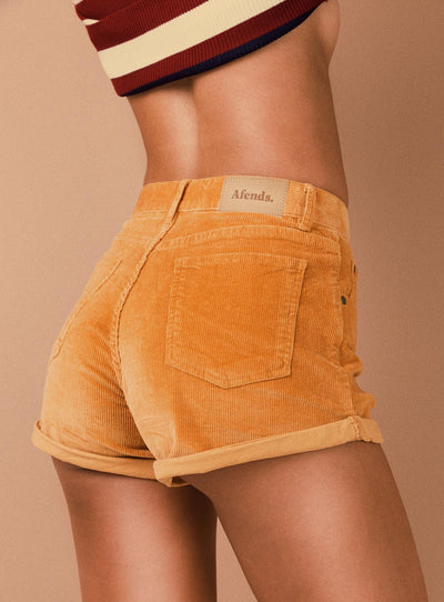 Afends Tyler Corduroy Shorts Amber