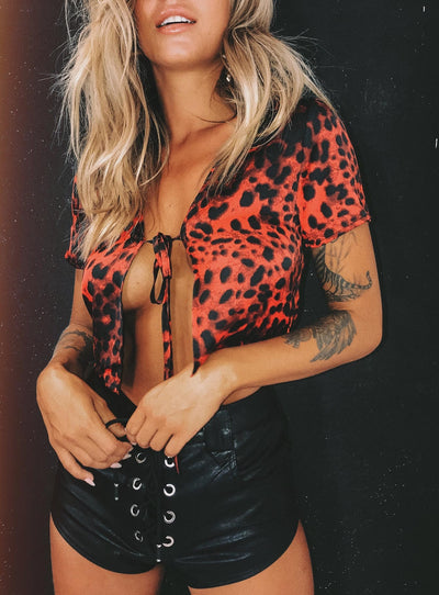 The Anton Top Red Leopard
