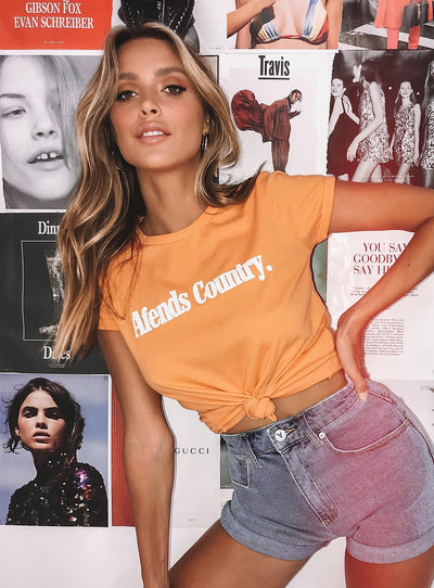 Afends Country Ringer Tee Apricot