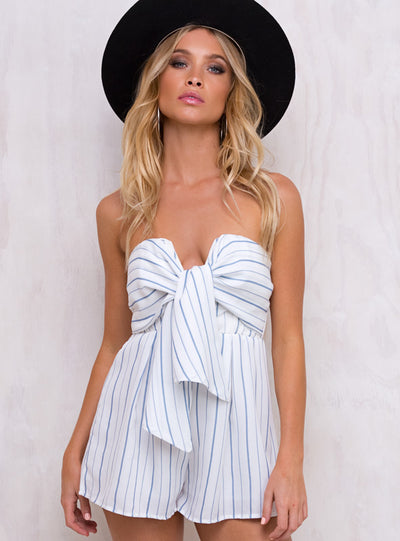 Lost Pearl Strapless Playsuit