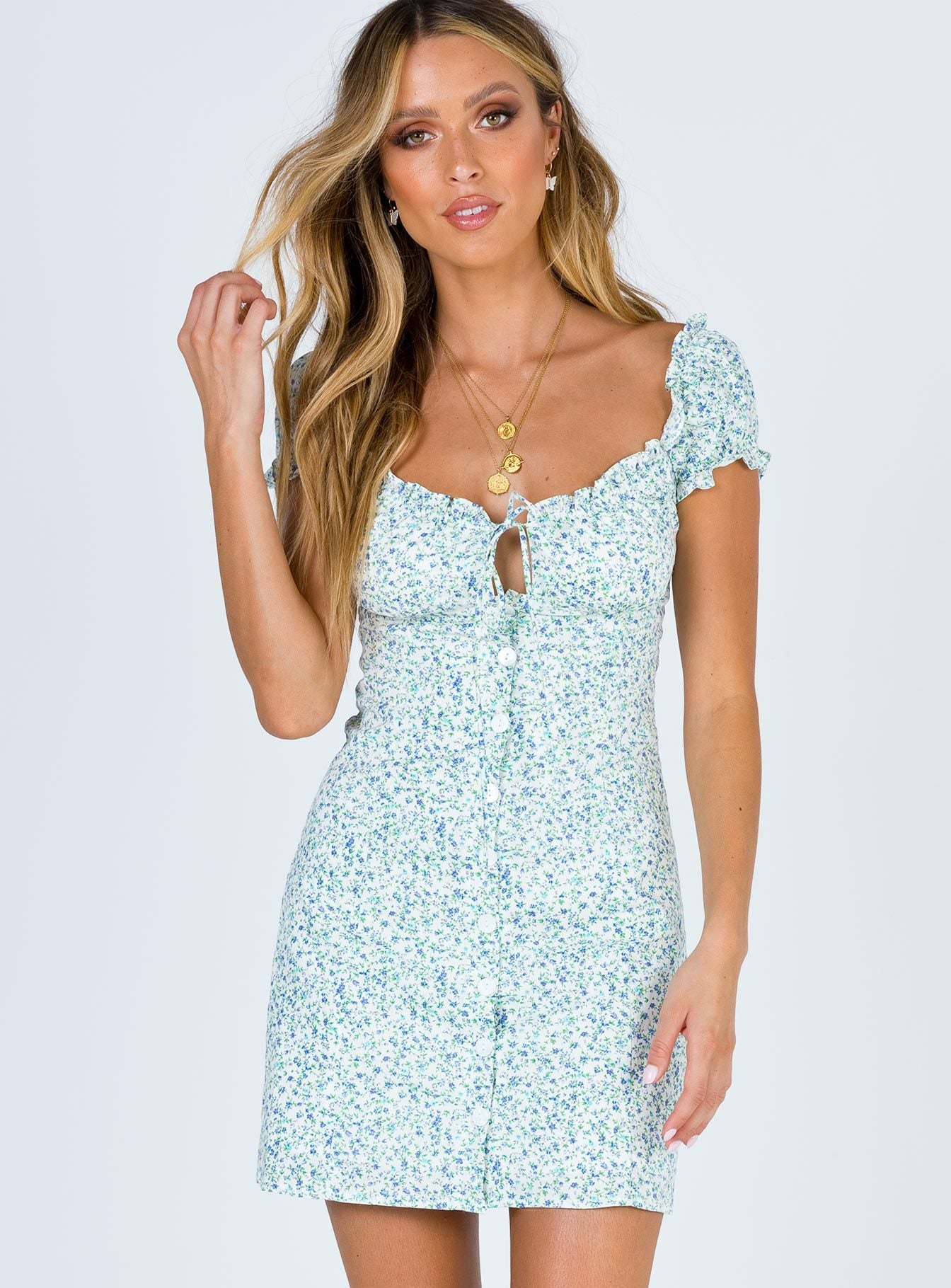 Morning Blues Mini Dress
