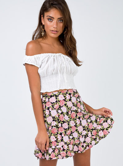 Motel In Bloom Kaykay Skater Skirt