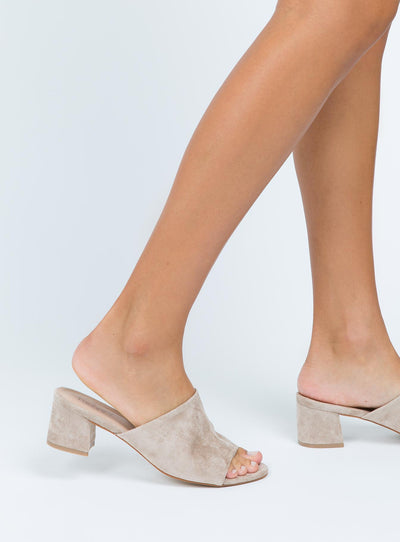 Therapy Taupe Garnett Mules