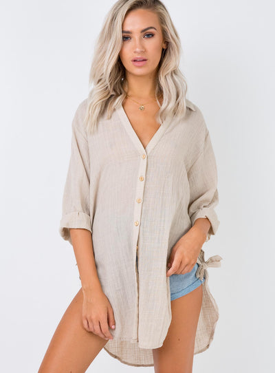 The Lainey Shirt Beige