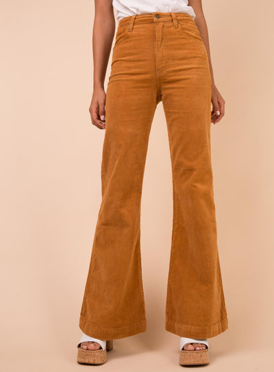 Rolla's Tan Cord Eastcoast Flares