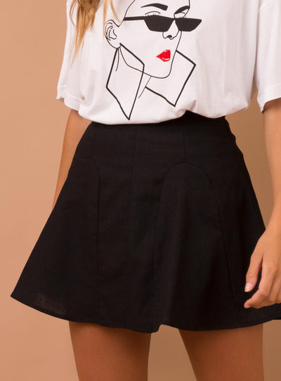 Last Kiss Mini Skirt  Black