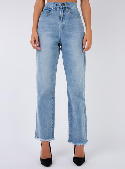 Miami Vice Strait Leg Jeans Mid Wash Denim