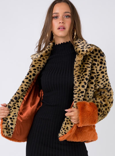 Minkpink Wilderness Faux Fur Jacket