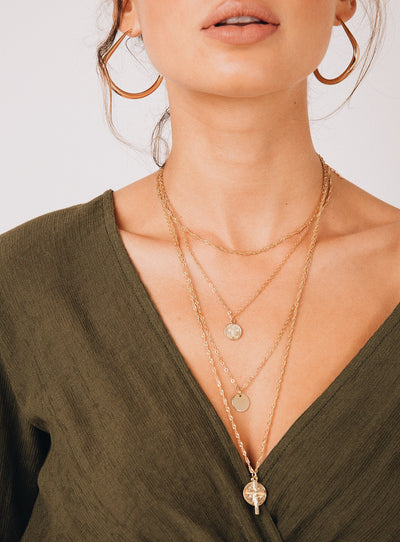 Melodic Layered Coin Necklace