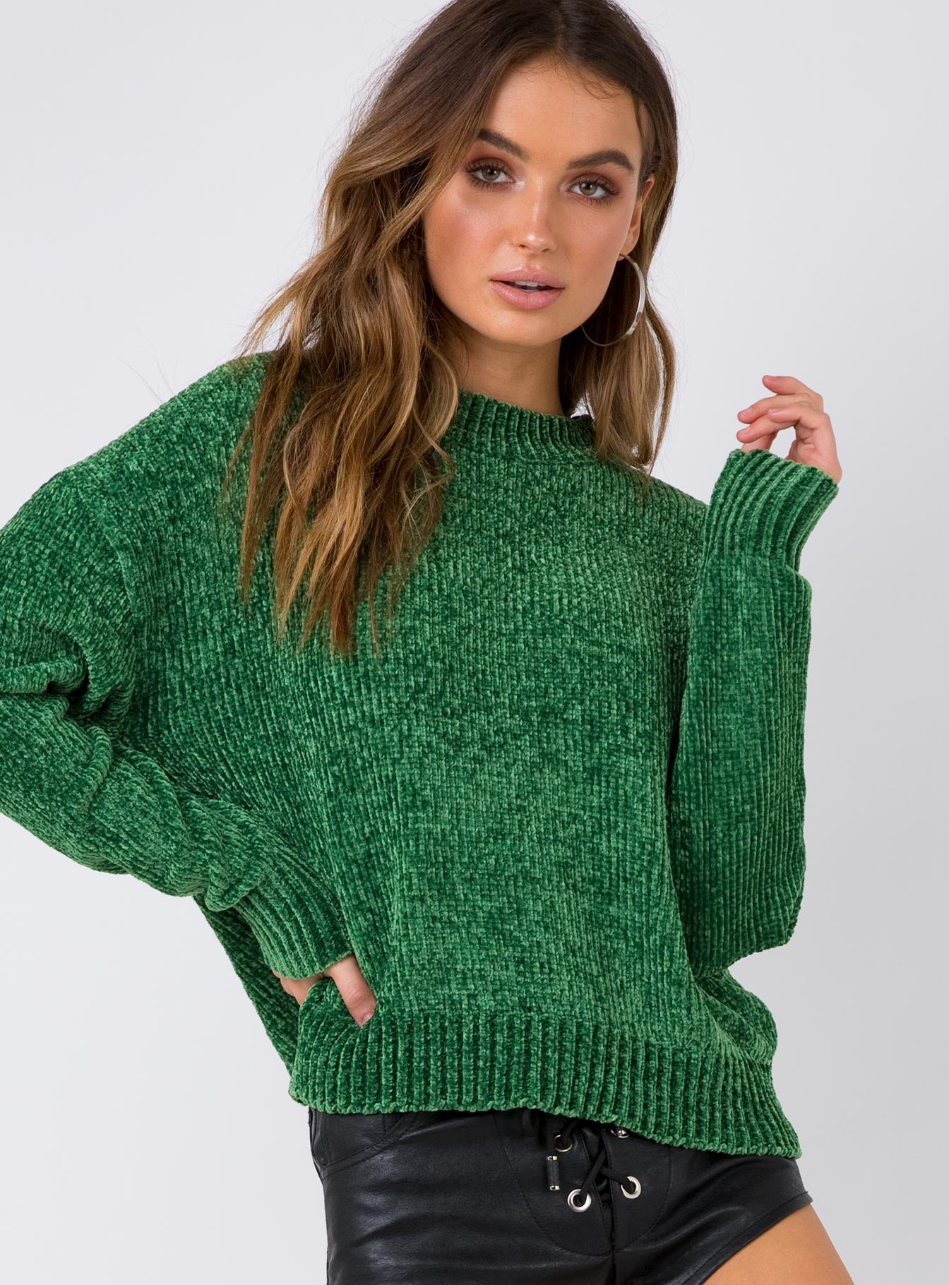 Iced Out Knit Jumper Green