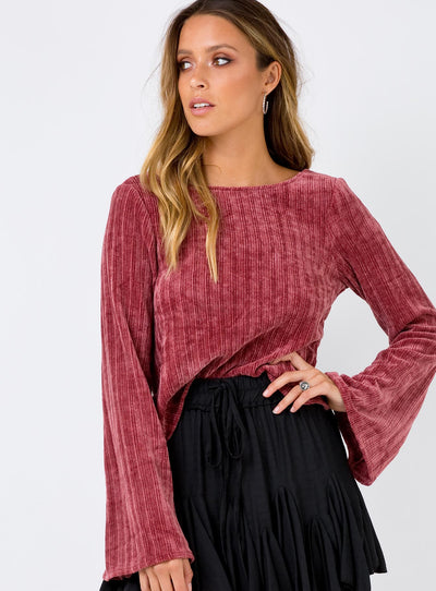 Hermione Top Plum