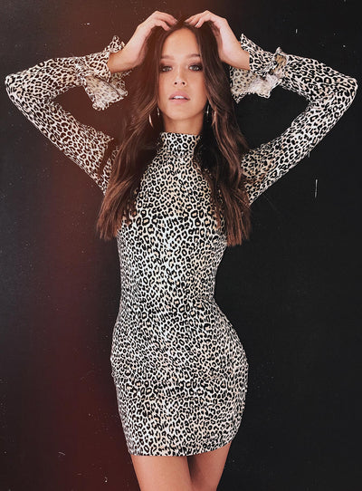 Motel Katwin Dress Leopard