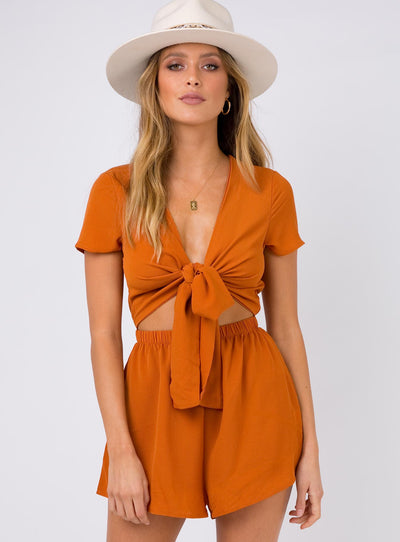 Sweet Sahara Tie Front Playsuit