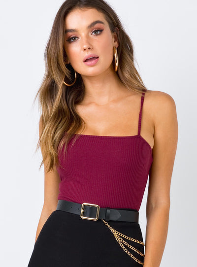 The Palmer Bodysuit Burgundy