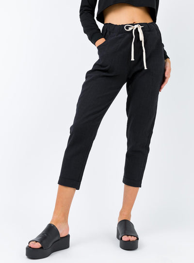 The Ramie Pants Black